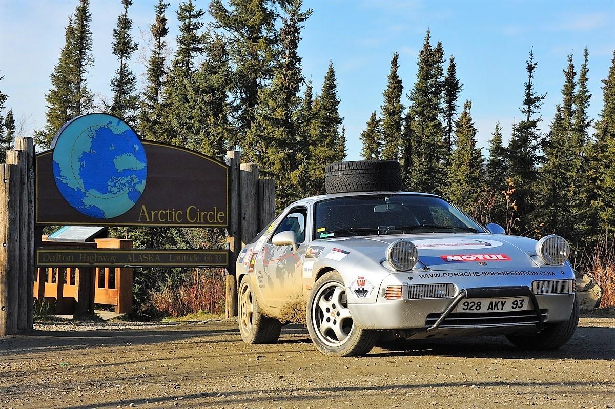 Porsche 928 Expedition Usa Alaska Cercle polaire Artic circle Dalton Highway