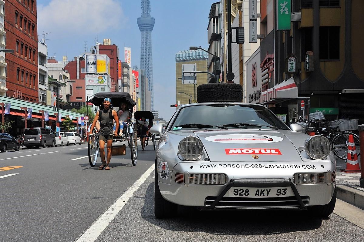 Porsche 928 Expedition Japon Tokyo Nagoya