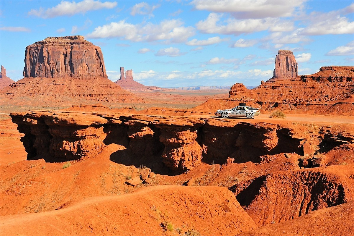 Porsche 928 Expedition Usa Monument valley Utah